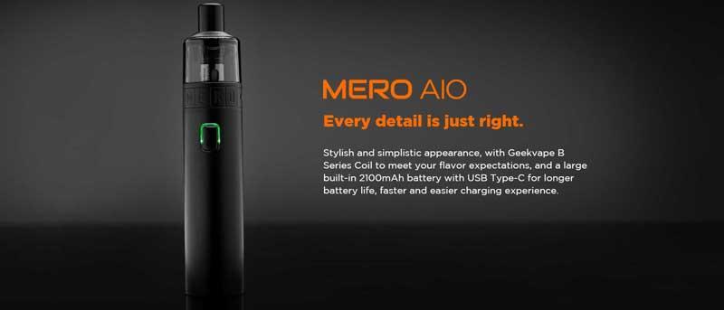 Gran batería, rápido y fácil,Geekvape Mero AIO: