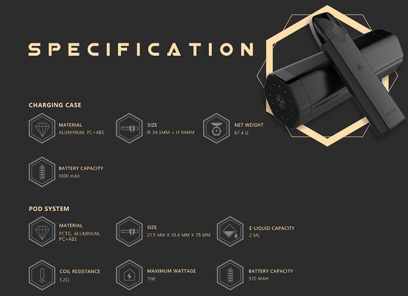 Características de Uwell Tripod PCC